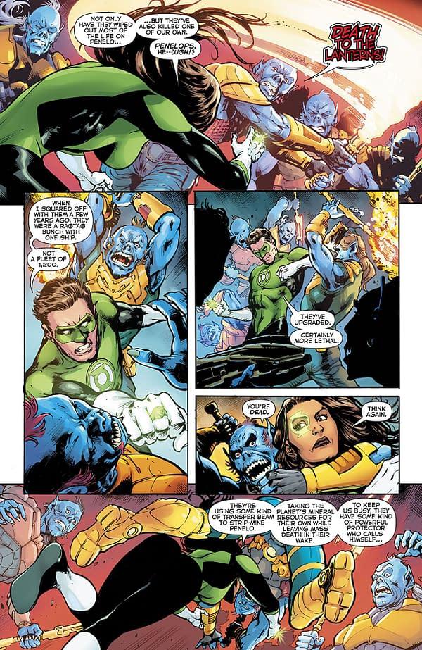 Green Lanterns #53 art by Marco Santucci and Hi-Fi