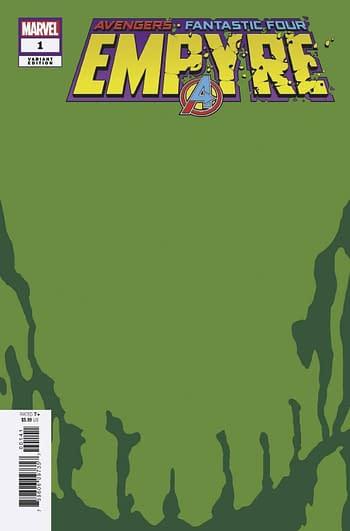 Empyre #1 Skrull Green variant from Marvel Comics.