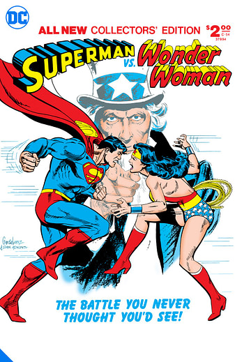 Superman Vs Wonder Woman, one of many DC Big Books in 2020 and 2021