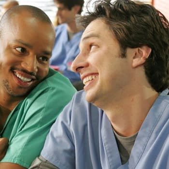 Donald Faison and Zach Braff on Scrubs (Image: NBCUniversal)