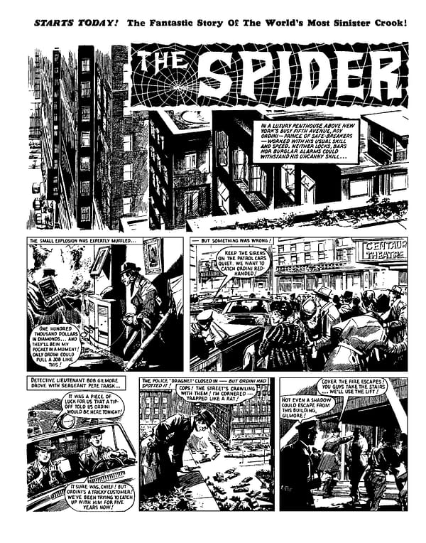 The Spider remastered interior page. Credit: Rebellion Publishing.