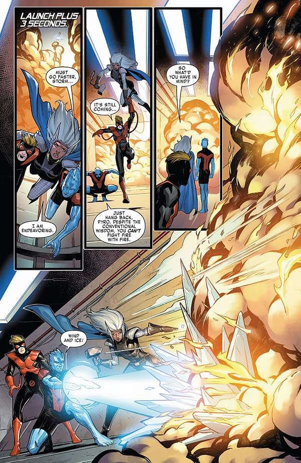 X-Men: Gold #28 art by Michele Bandini and Arif Prianto