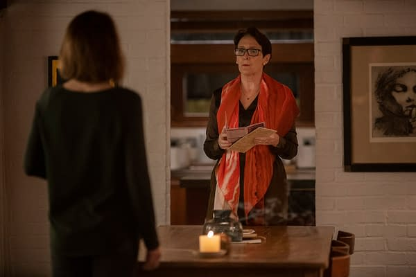 Fiona Shaw as Carolyn Martens, Gemma Whelan as Geraldine - Killing Eve _ Season 3, Episode 7 - Photo Credit: Laura Radford/BBCAmerica/Sid Gentle