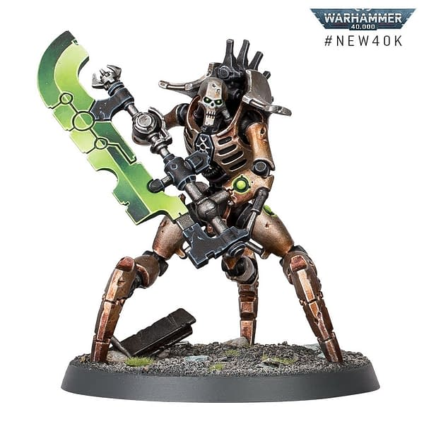 A single Skorpekh Destroyer model from the Necrons faction of Warhammer 40,000's ninth edition. Made by Games Workshop.