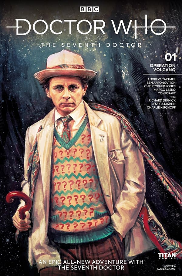Doctor Who: The Seventh Doctor- Operation Volcano cover by Ben Aaronovitch