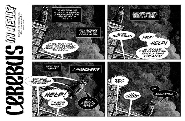 Page from Cerebus In Hell: Batvark Contagion