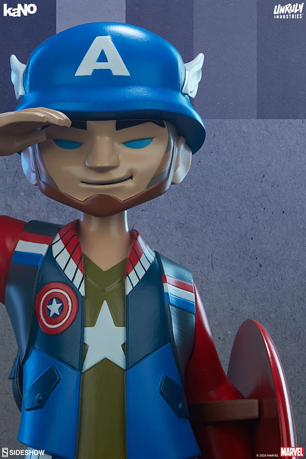 Marvel Designer Collectible Figures from Unruly Industries Captain America
