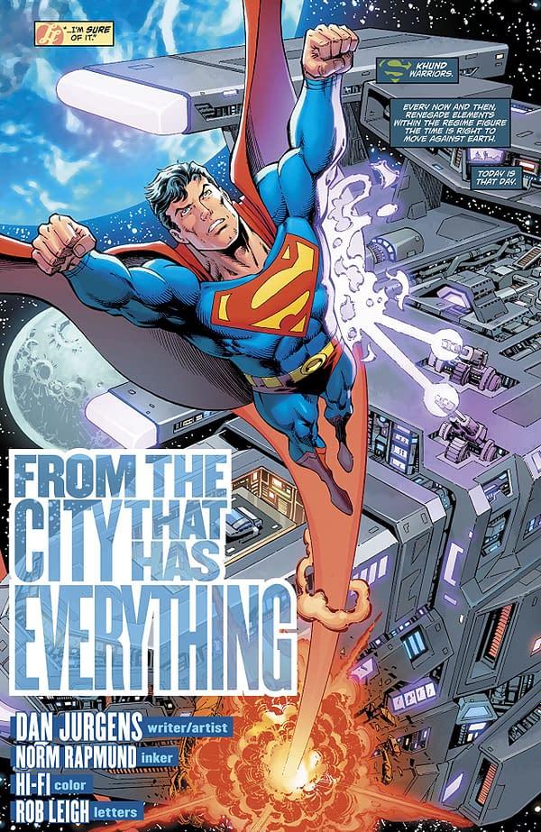 Action Comics #1000 art by Dan Jurgens, Norm Rapmund, and Hi-Fi