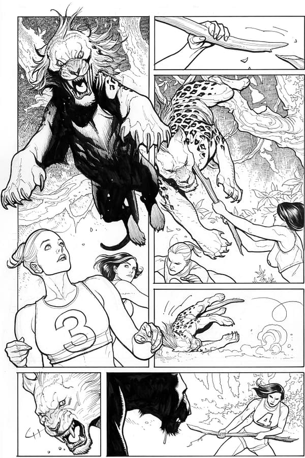 More Artwork From Frank Cho's Fight Girls