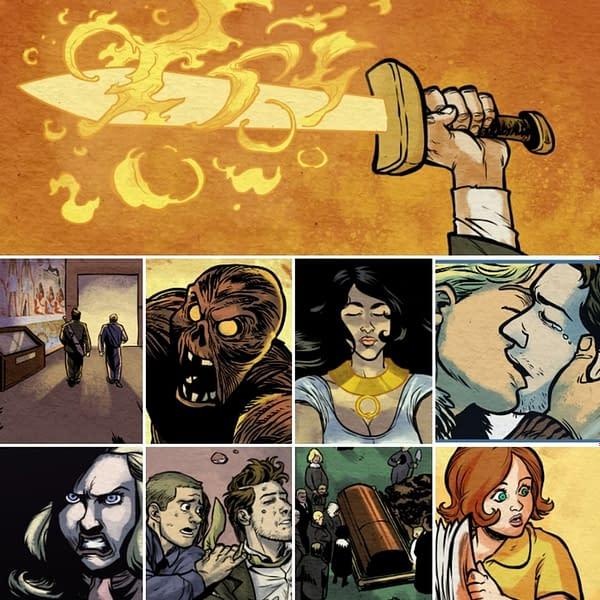 Northwest Press's DASH #6 preview art. Credit: Dave Ebersole.