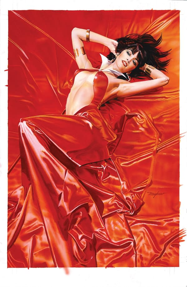 Mike Mayhew's Retailer Incentive Covers for Vampirella: Roses for the Dead #1