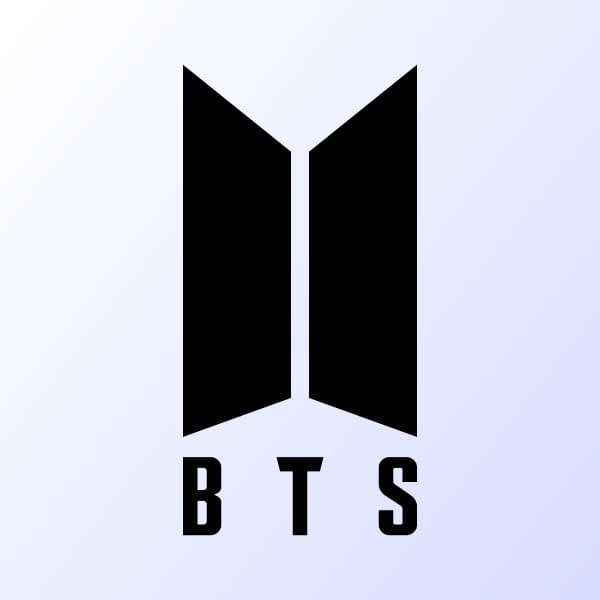 BTS music group logo. by ALX1618/Shutterstock.com.