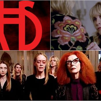 American Horror Story Apocalypse: Welcome Back Taissa Farmiga Gabourey Sidibe Lily Rabe Frances Conroy and Stevie Nicks