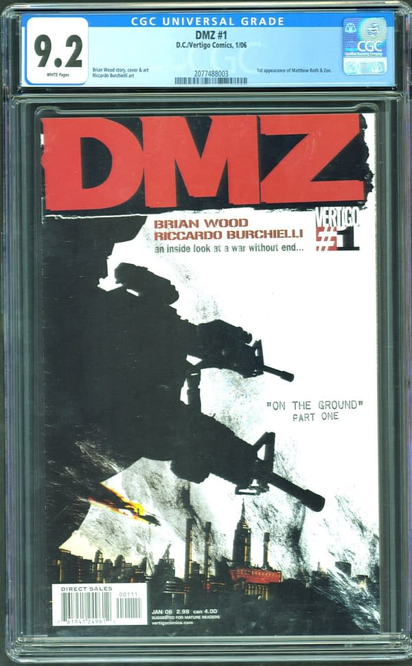Snatch Up DMZ #1 For Steal From ComicConnect Auction Ending Today