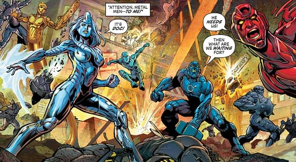 Art from Legends of Tomorrow: Metal Men by Yildiray Cinar