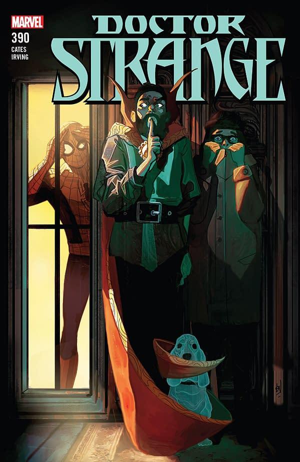 Doctor Strange #390 cover by Mike del Mundo