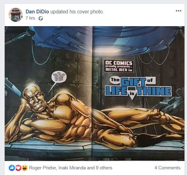 Dan DiDio Shows Off His Package In Metal Men #4