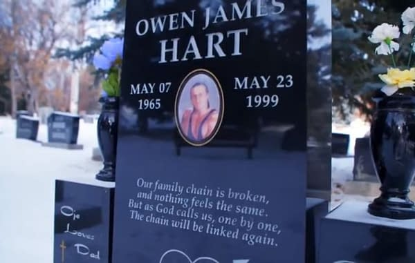 Dark Side of the Ring looks at the death of Owen Hart (image courtesy of Vice TV).