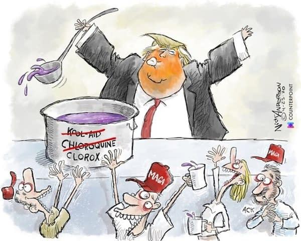 The CBLDF Beats Donald Trump Campaign Over MAGA Cartoon.