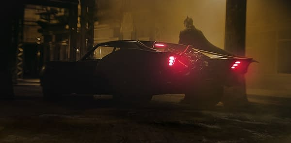 The New Batmobile from The Batman which stars Robert Pattinson and is directed by Matt Reeves.
