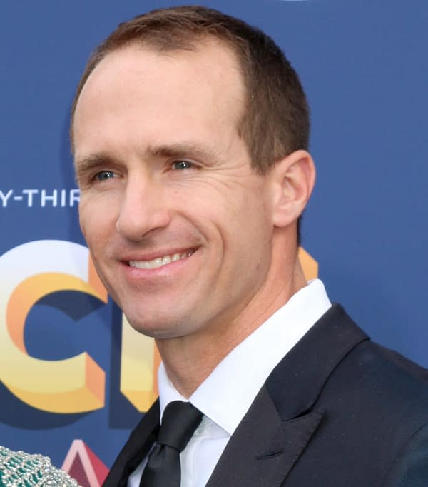 LAS VEGAS - APR 15: Drew Brees at the Academy of Country Music Awards 2018 at MGM Grand Garden Arena on April 15, 2018 in Las Vegas, NV (Kathy Hutchins/Shutterstock.com)