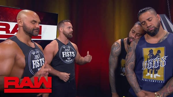 The Revival put The Usos to sleep on Raw, courtesy of WWE.