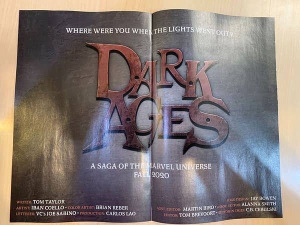 Marvel's Dark Ages Is a High-Concept Non-Canon Thriller Like DCeased.