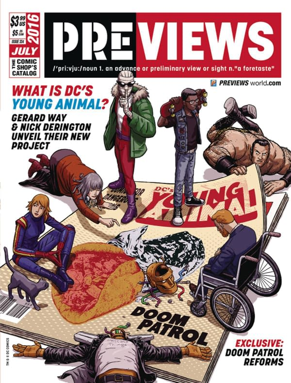 Doom Patrol Cover Diamond Previews As The All New Avengers Burn