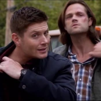 Dean and Sam Winchester in sync on Supernatural, courtesy of The CW.