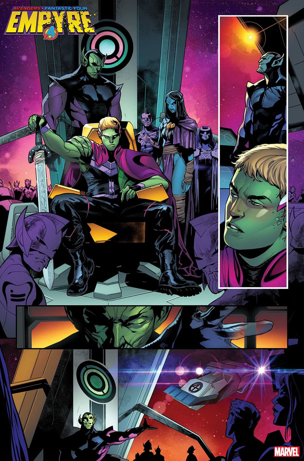 5 Interior Pages from A4: Empire with a Y #1