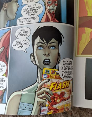 Flash Giant #4 Has a Rather Bland View of Today's Comics