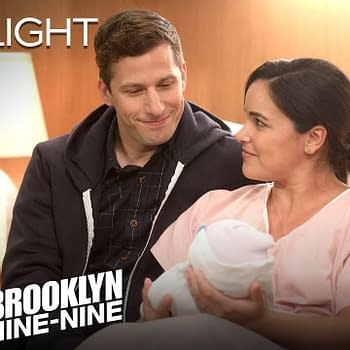 Meet Jake and Amy's new baby on Brooklyn Nine-Nine, courtesy of NBC.