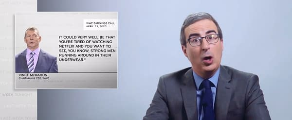 HBO's John Oliver Shoots on WWE for Filming During Pandemic