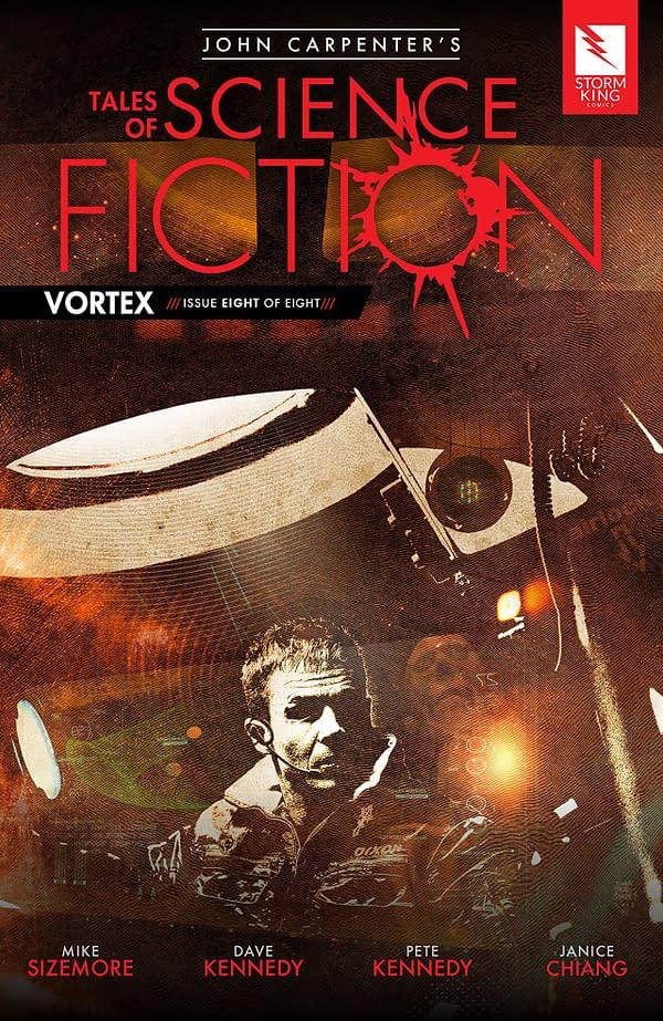 John Carpenter's Tales of Science Fiction: Vortex #8 cover by Tim Bradstreet