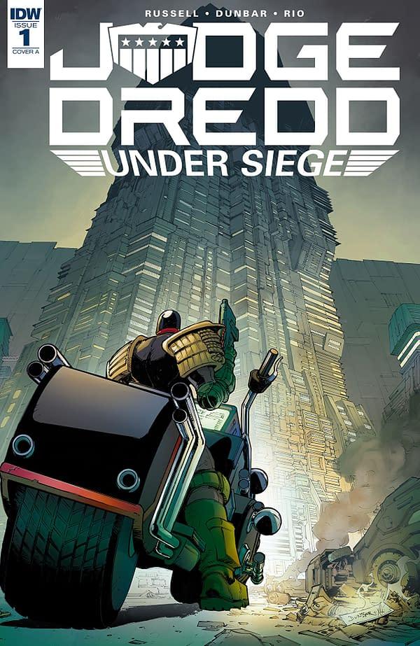 Judge Dredd: Under Siege #1 cover by Max Dunbar and Jose Luis Rio