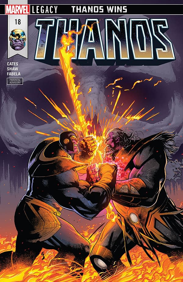 Thanos #18 cover by Geoff Shaw and Antonio Fabela