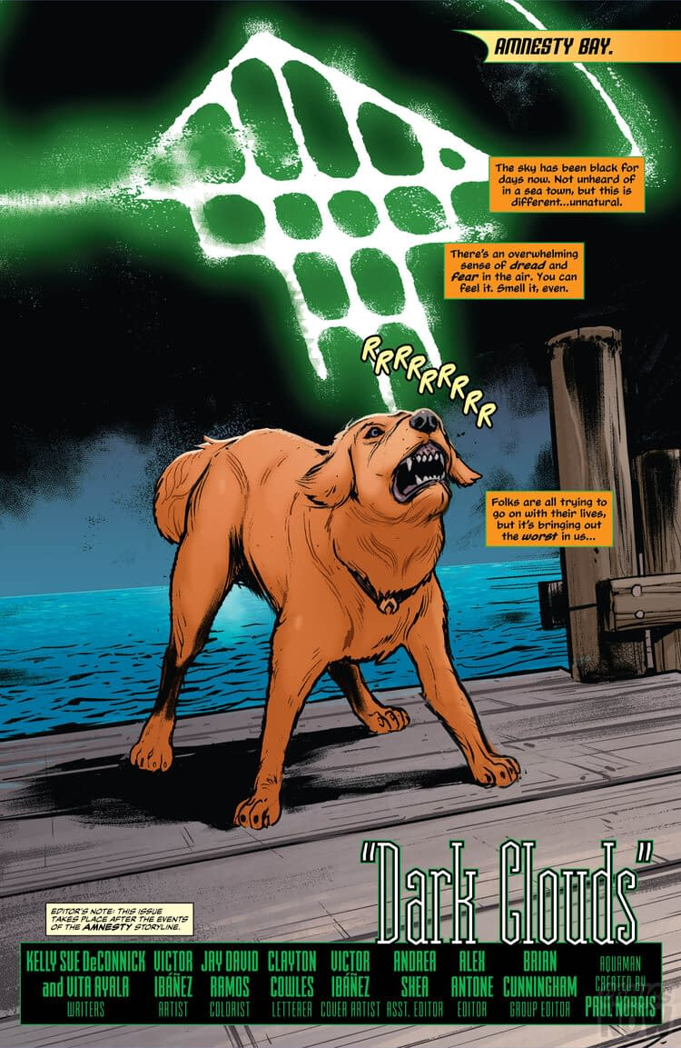 Sea Daddy Shoots Aquaman's Dog in Aquaman Annual #2 [Preview]