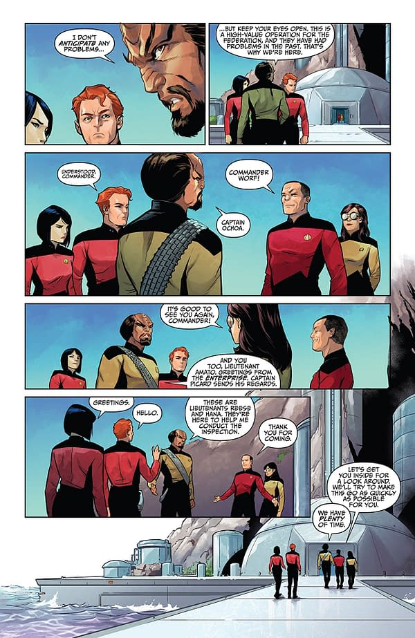 Star Trek the Next Generation: Through the Mirror #1 art by Marcus To and Brittany Peer