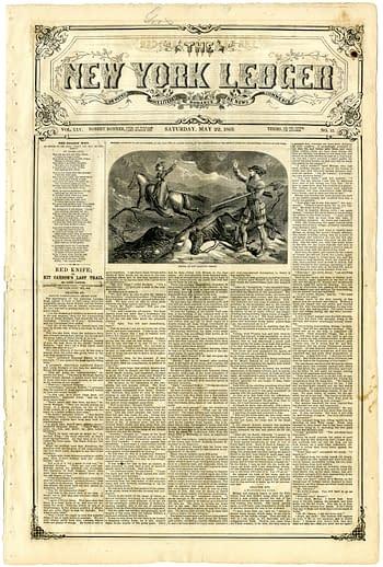 New York Ledger Volume 25 Number 13 1869-05-22 Kit Carson, published by Robert Bonner.