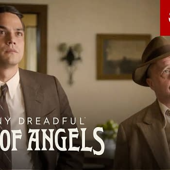 Vega and Michener are on the case in Penny Dreadful: City of Angels, courtesy of Showtime.