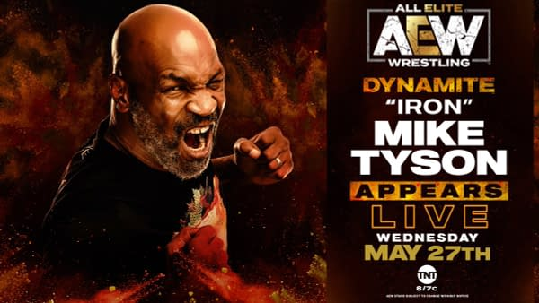 Mike Tyson will appear on AEW Dynamite on Wednesday.