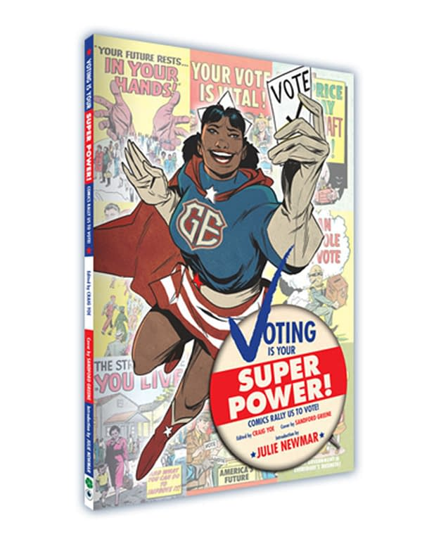 Voting is Your Superpower cover, collecting vintage political comics. Credit: Clover Press's Indiegogo.