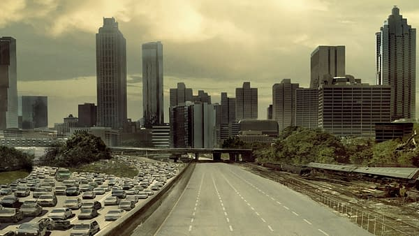 Atlanta Zoom background from The Walking Dead, courtesy of AMC.