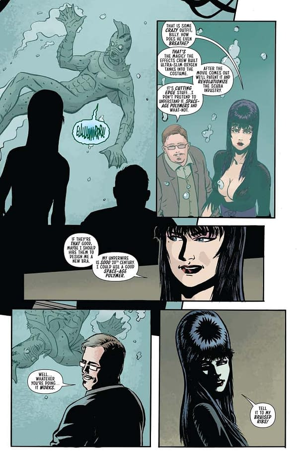David Avallone's Writer's Commentary on The Shape Of Elvira #2