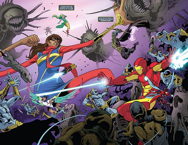 Infinity Countdown: Champions #2 art by Emilio Laiso and Andy Troy
