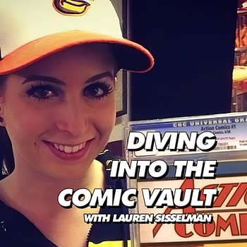 The Diving Into The Comic Vault logo. Photo: Baltimore Lauren.