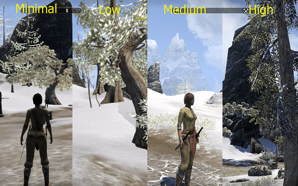 Visual Settings Comparison