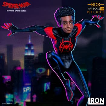 Miles Morales Leaps Into Action with New Iron Studios Statue