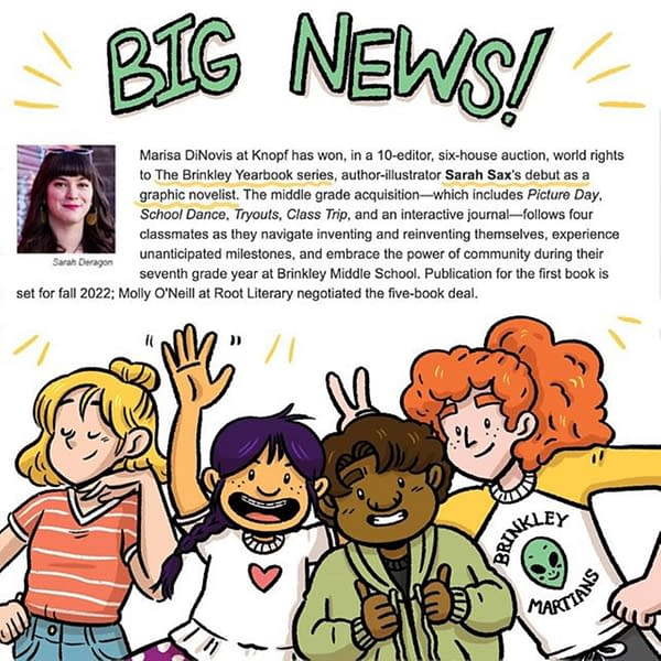 Sarah Sax Sells The Brinkley Yearbook Graphic Novel Series at Auction