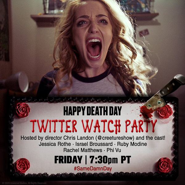 Le Happy Death Day organise une fête de surveillance sur Twitter vendredi.
